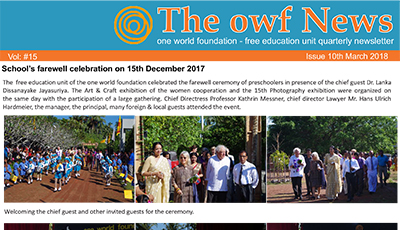 Newsletter owf Free Education School (PDF)